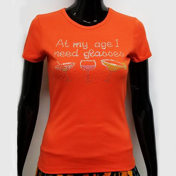At my age I need glasses-T Shirt-SanJules