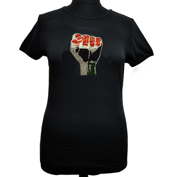 Black Power Fist T-T Shirt-SanJules