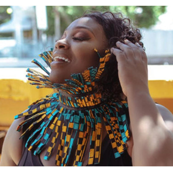 Fancy African Fabric Choker-Accessories-SanJules