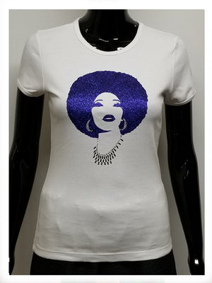foxy blue t reflective film and rhinestone