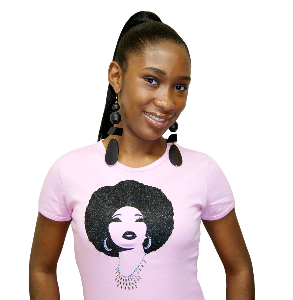 Foxy Metallic black afro t