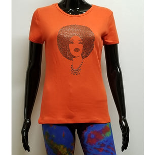 Foxy black diamond afro-T Shirt-SanJules