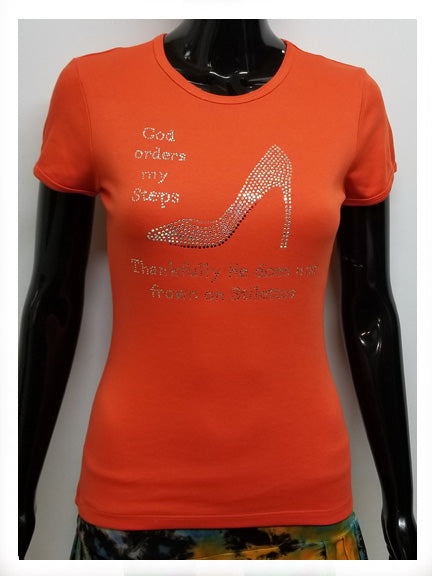 God orders my steps stiletto-T Shirt-SanJules