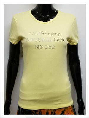 Bringing back natural no lye short sleeve t shirt