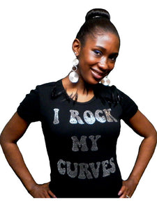 I Rock my curves rhinestone T