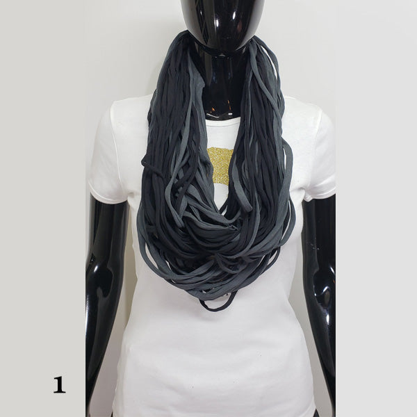 Infinity t shirt strip scarf-Accessories-SanJules