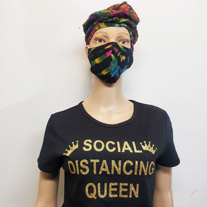 Social Distancing Queen-T Shirt-SanJules