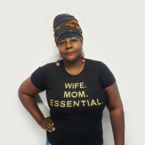 Wife Mom Essential-T Shirt-SanJules