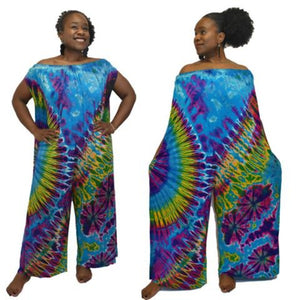 Playful off the shoulder jumpsuit 56 inches and 60 inches long