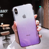 Shining Gradient Diamond Framework Clear Phone Case Back Cover for XS Max/XR/XS/X/8 Plus/8/7 Plus/7/6s Plus/6s/6 Plus/6 - caseative