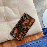 Amber Color Leopard Print Soft iPhone Case