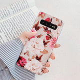 Vintage Flower Phone Case Back Cover for Samsung Galaxy S20 Ultra/S20 Plus/S20/S10E/S10 Plus/S10/S9 Plus/S9/S8 Plus/S8/Note 10 Pro/Note 10 - caseative