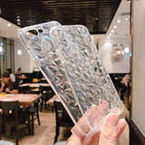 Simple Diamond Pattern Transparent Phone Case Back Cover for OPPO Reno/Find X/R15X/R15 Dream Mirror/R15/R17/R17 Pro/A7/A5/A3 - caseative