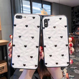 3D Diamond Pattern Love Heart Phone Case Back Cover for OPPO Reno/Find X/R15X/R15 Dream Mirror/R15/R17/R17 Pro/A9/A7/A5/A3 - caseative