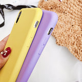 Candy Color Solid Silicone  Phone Case Back Cover for iPhone SE/11 Pro Max/11 Pro/11/XS Max/XR/XS/X/8 Plus/8/7 Plus/7/6s Plus/6s/6 Plus/6 - caseative