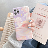 Literary Cloud Oil Painting Soft iPhone Case