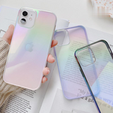Clear Gradient Laser Soft iPhone Case