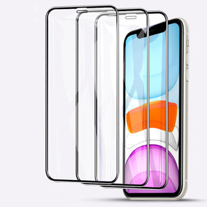 Tempered Glass Screen Protector for iPhone 11 Pro Max/11 Pro/11/XS Max/XR/XS/X/8 Plus/8/7 Plus/7/6s Plus/6s/6 Plus/6 - caseative