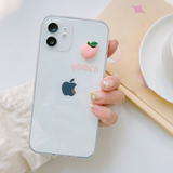 Side Cartoon 3D Small Fruit Anti-fall Clear Soft iPhone Case