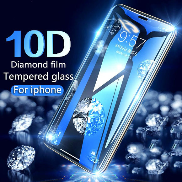 10D Protective Tempered Glass Screen Protector for iPhone 11 Pro Max/11 Pro/11/XS Max/XR/XS/X/8 Plus/8/7 Plus/7/6s Plus/6s/6 Plus/6 - caseative