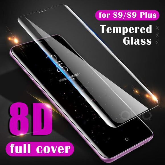 8D Full Protective Tempered Glass Screen Protector for Samsung Galaxy S10E/S10 Plus/S10/S9 Plus/S9/S8 Plus/S8/Note 8/Note 9 - caseative