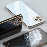 Square Plating Frame Soft iPhone Case