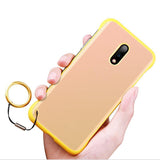 Ultra Thin Frameless With Finger Ring Soft Silicon Phone Case Back Cover for OnePlus 7 Pro/7/6T/6 - caseative