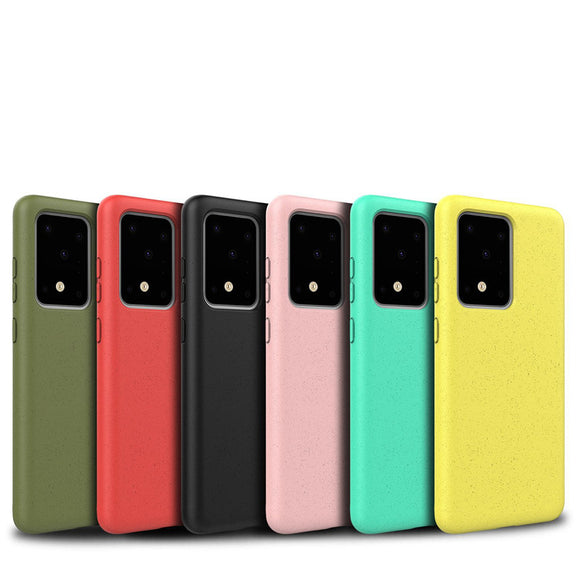 Simple Solid Color Pockmark Soft Phone Case Back Cover for Samsung Galaxy S20 Ultra/S20 Plus/S20/S10E/S10 Plus/S10/Note 10 Pro/Note 10 - caseative