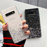 Shiny Star Gold Foil Clear Phone Case Back Cover for Samsung Galaxy S10E/S10 Plus/S10/S9 Plus/S9/S8 Plus/S8/Note 9/Note 8 - caseative