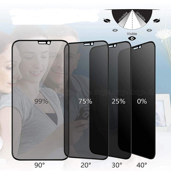 Anti Spy Glare Peeping Full Privacy Tempered Glass Screen Protector for iPhone 11 Pro Max/11 Pro/11/XS Max/XR/XS/X/8 Plus/8/7 Plus/7/6s Plus/6s/6 Plus/6 - caseative
