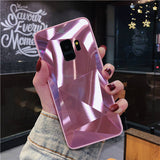 3D Diamond Glitter Mirror Phone Case Back Cover for Samsung Galaxy S10E/S10 Plus/S10/S9 Plus/S9/S8 Plus/S8/Note 9/Note 8 - caseative