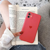 Camdy Color Love Heart Camera Lens Protector Soft Silicone iPhone Case