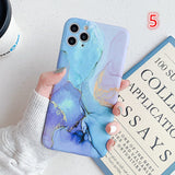 Gradient Marble Camera Protection Soft IMD Phone Case Back Cover for iPhone SE/11 Pro Max/11 Pro/11/XS Max/XR/XS/X/8 Plus/8/7 Plus/7 - caseative