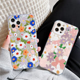 Cute Leaf Flower Transparent Soft iPhone Case