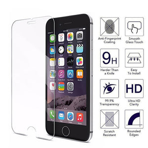 9H Tempered Glass Screen Protector for iPhone 11 Pro Max/11 Pro/11/XS Max/XR/XS/X/8 Plus/8/7 Plus/7/6s Plus/6s/6 Plus/6 - caseative