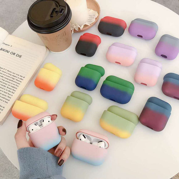 Gradient Candy Color Matte AirPods Case