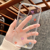 Cute Love Heart Transparent Soft iPhone Case