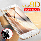 9D Full Cover Tempered Glass Screen Protector for iPhone 11 Pro Max/11 Pro/11/XS Max/XR/XS/X/8 Plus/8/7 Plus/7/6s Plus/6s/6 Plus/6 - caseative