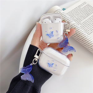 Cute Butterfly Transparent Soft AirPods Case