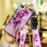3D Retro Flower with Wrist Strap Lanyard Phone Case Back Cover for Samsung Galaxy S20 Ultra/S20 Plus/S20/S10E/S10 Plus/S10/S9 Plus/S9/S8 Plus/S8/Note 10 Pro/Note 10/Note 9/Note 8 - caseative