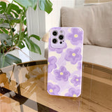 Cute Oil Painting Flowers Silicone Anti-fall Soft iPhone Case