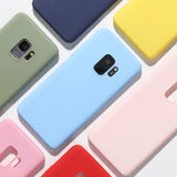 Candy Color Soft Silicone Phone Case Back Cover for OnePlus 7 Pro/7/6T/6 - caseative