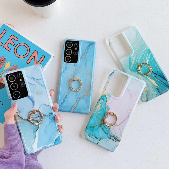 Marbling Ring Soft Samsung Case