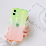 Luxury Gradient Laser Clear Anti-fall Soft iPhone Case