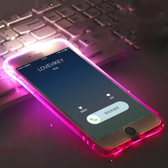 LED Flash Light Up Remind Incoming Call iPhone Case