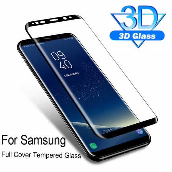 3D Full Protective Tempered Glass Screen Protector for Samsung Galaxy S10E/S10 Plus/S10/S9 Plus/S9/S8 Plus/S8/Note 8/Note 9 - caseative