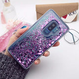 Glitter Love Liquid Quicksand Phone Case Back Cover for Samsung Galaxy S20 Ultra/S20 Plus/S20/S10E/S10 Plus/S10/S9 Plus/S9/S8 Plus/S8/Note 10 Pro/Note 10 - caseative