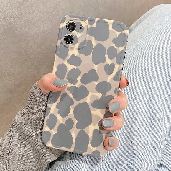 Leopard Print Silicone Soft iPhone Case