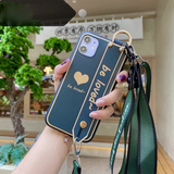 Love Heart Strap Soft Samsung Case