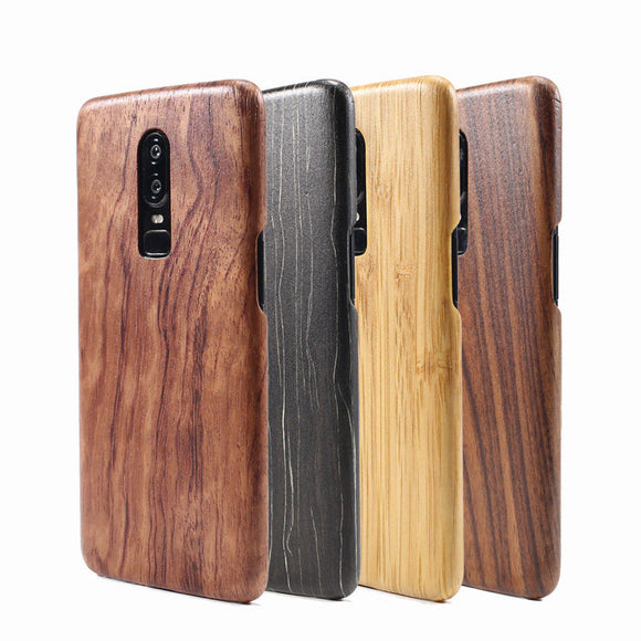 Walnut Enony Wood Rosewood Mahogany Phone Case Back Cover for OnePlus 7 Pro/7/6T/6